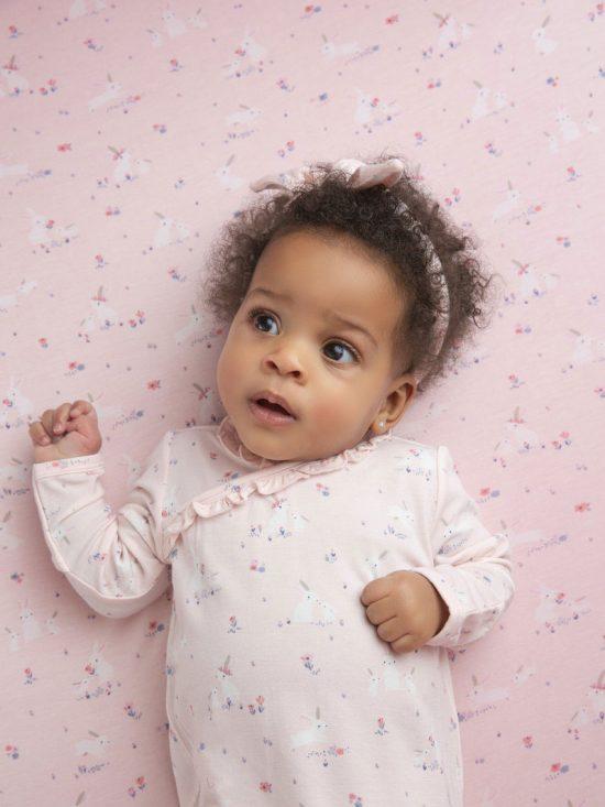 Baby Bunnies - Pink Swaddle Blanket