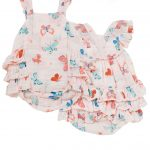 Butterflies Ruffle Sunsuit - Same Baby Clothing Collection