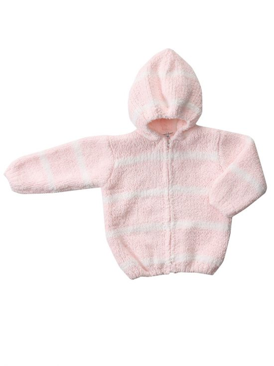 Chenille Hoodie - Pink Ivory
