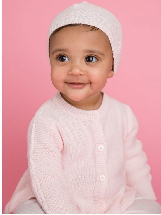 Seed Cardigan Pale Pink Warm Baby