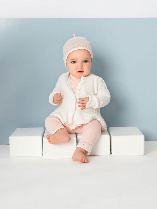Seed Cardigan White Warm Baby