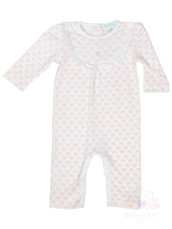 Front Ruffle Yoke Romper Christine Floral - Feather Baby - Baby Outfit