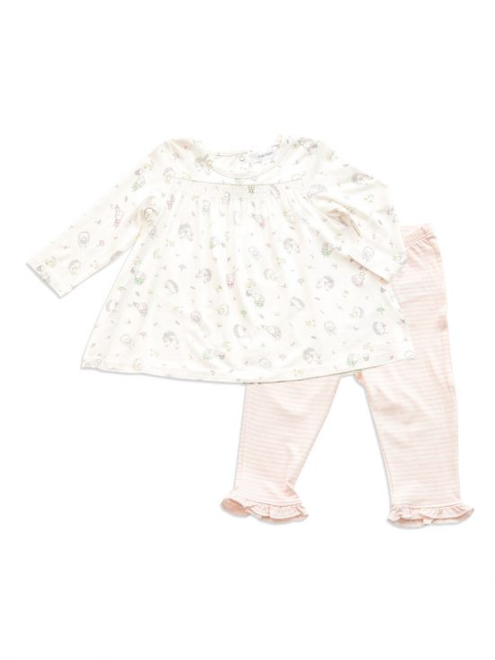 Hedgehog Explorer smocked top and Pant- Baby clothes