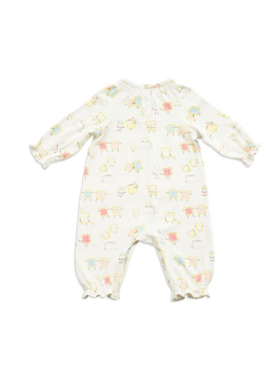 Jelly Toast Smocked Romper Back - Angel Dear