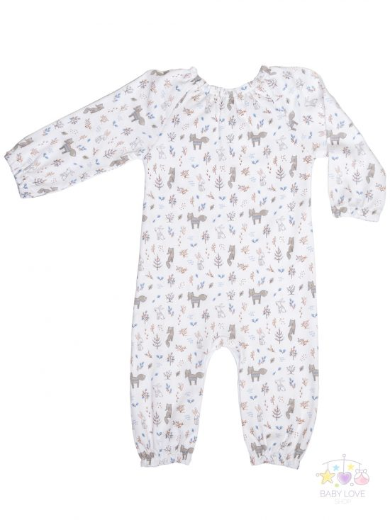 Foxes and Bunnies Bow Romper Back Baby clothes