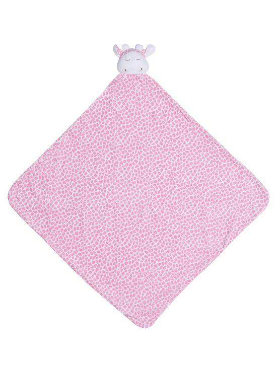 Pink Giraffe Baby Large Nap Blanket